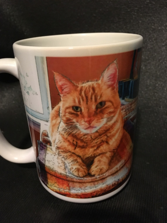 Marmalade Cat  Large Coffee Mug 15 Oz