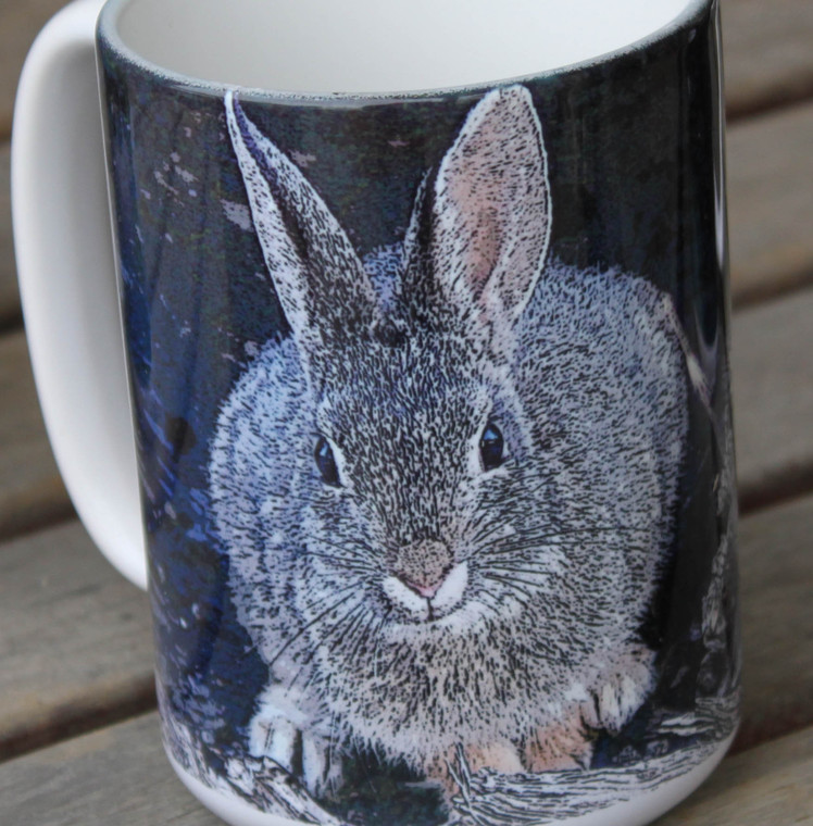 Mountain Cottontail Large Coffee Mug 15 Oz.