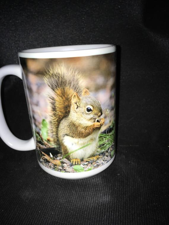Red Squirrel MN Large Coffee Mug 15 Oz