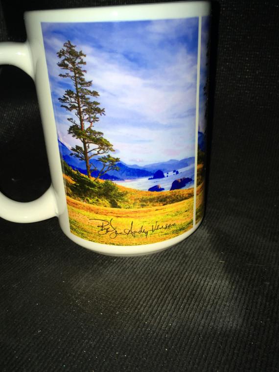 Shore Tree Large Coffee Mug 15 Oz