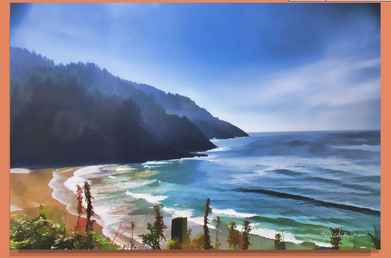 Heceta Shore Canvas print - 32 x 48 x 1.5 inches