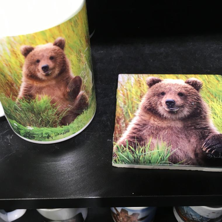 Coffee Mug and Coaster  Set - Little Bear