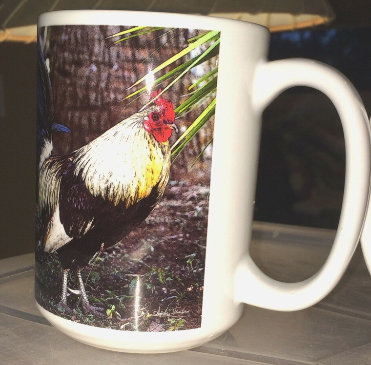 Coffee Mug and Coaster Set - Rooster 'Coffee Chicken'