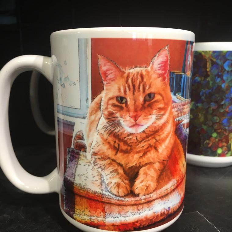 Coffee Mug and Coaster Set - Marmalade Cat