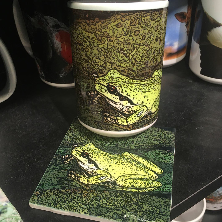 Crow Coffee Mug and Coaster Set - Froggy