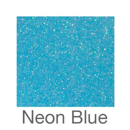 "Glitter*White/Neon Colors*-12""x5ft. Roll- Neon Blue"