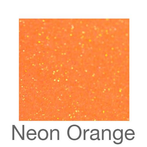 """Glitter*White/Neon Colors*-12""""x5ft. Roll- Neon Orange"""