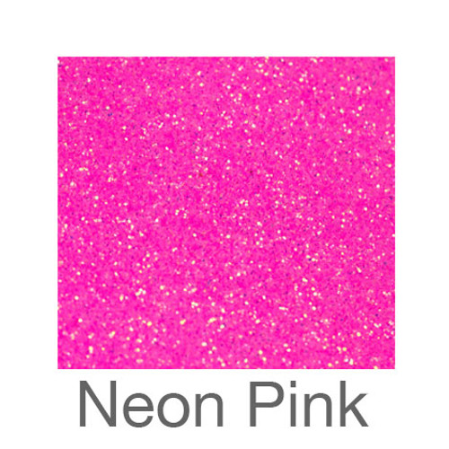 """Glitter*White/Neon Colors*-12""""x5ft. Roll- Neon Pink"""