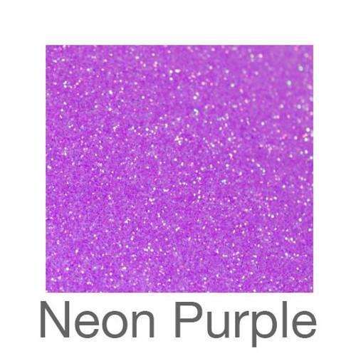 """Glitter*White/Neon Colors*-12""""x5ft. Roll- Neon Purple"""