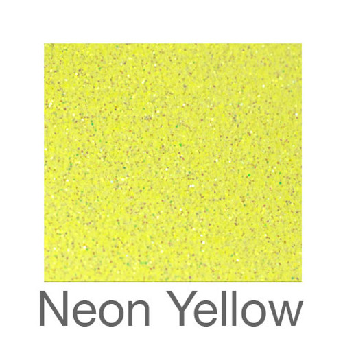 """Glitter*White/Neon Colors*-12""""x5ft. Roll- Neon Yellow"""