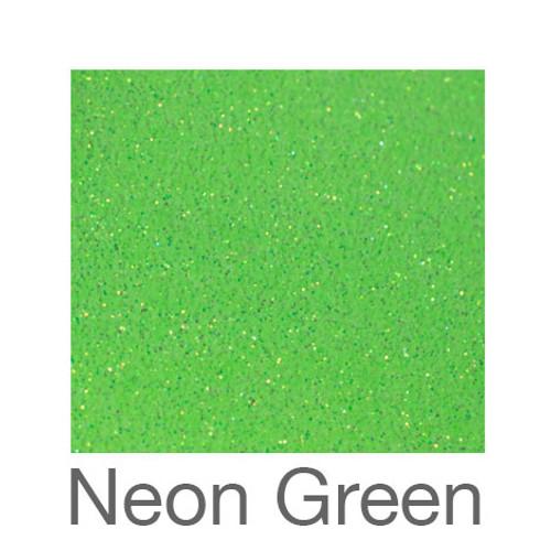 "Glitter *Neon & White*-9""X12""-Neon Green"