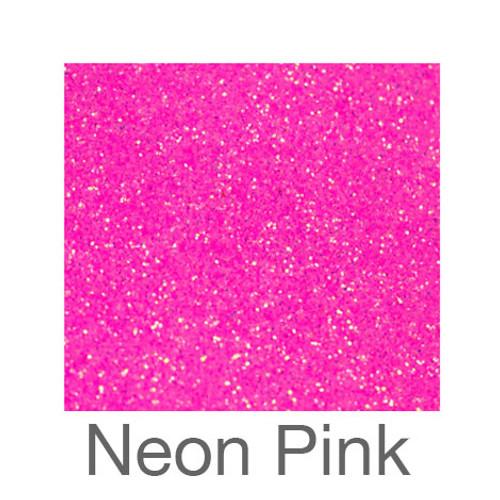 """Glitter *Neon & White*-9""""X12""""-Neon Pink"""