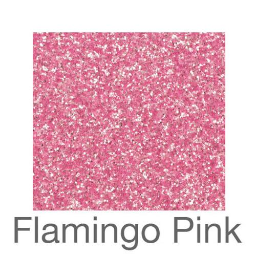 "Glitter-9""x12""- Flamingo Pink"