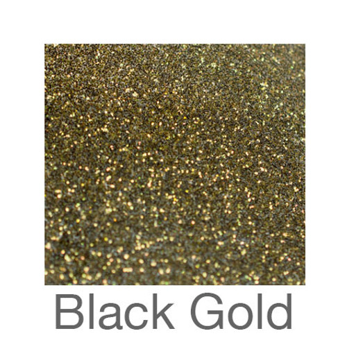 "Glitter-12""x20""- Black Gold"