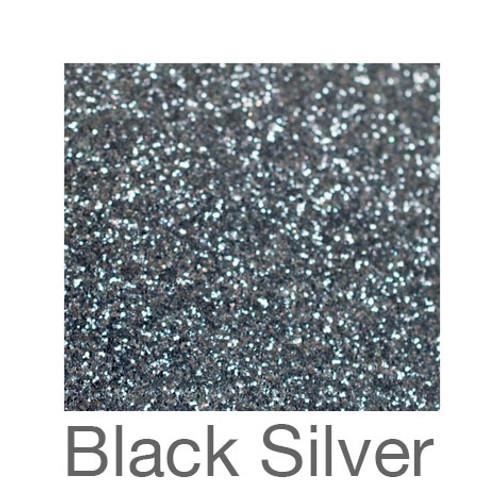 "Glitter-12""x20""- Black Silver"