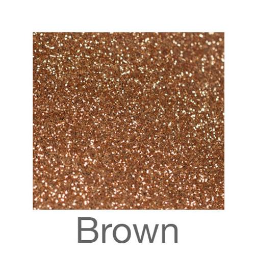 "Glitter-9""x12""- Brown"