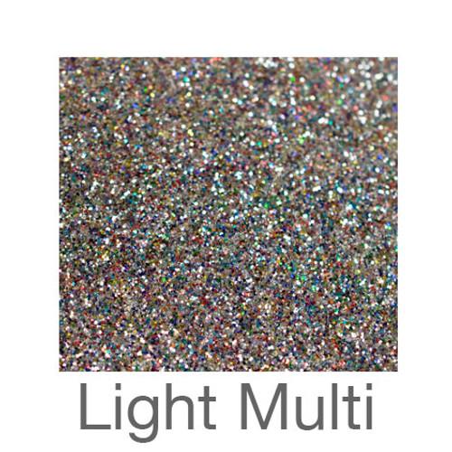 "Glitter-9""x12""- Light Multi"