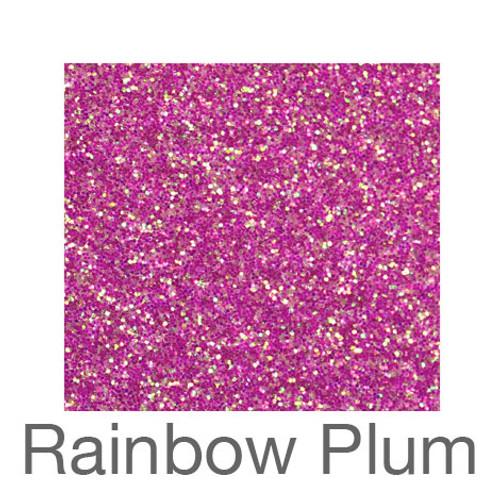 "Glitter-9""x12""- Rainbow Plum"