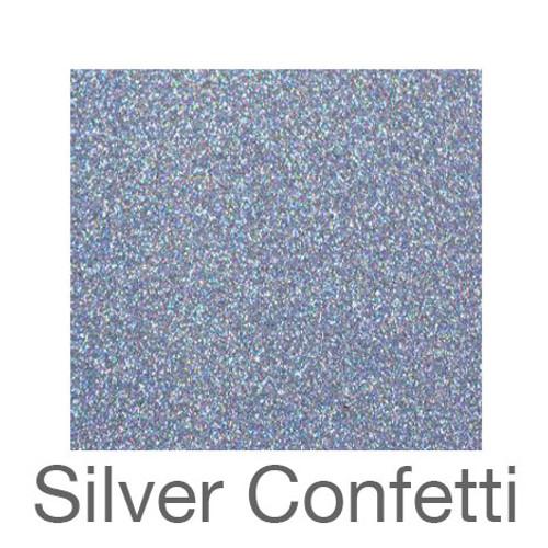 """Glitter-12""""x20""""- Silver Confetti"""