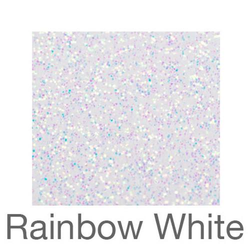 "Glitter-12""x20""- Rainbow White"