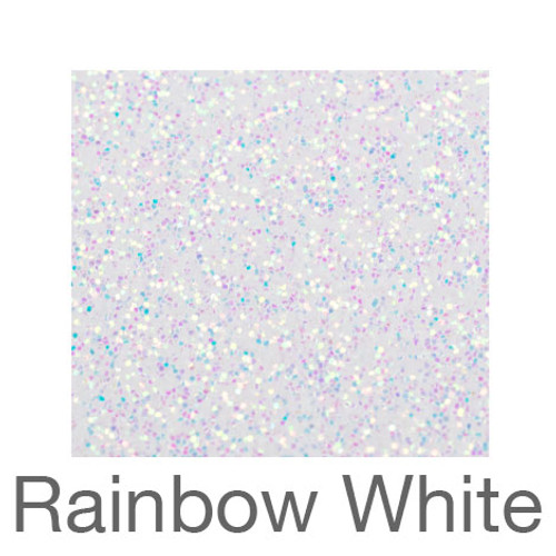 "Glitter-9""x12""- Rainbow White"
