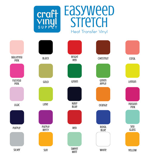 EasyWeed Stretch Heat Transfer Vinyl Sheets