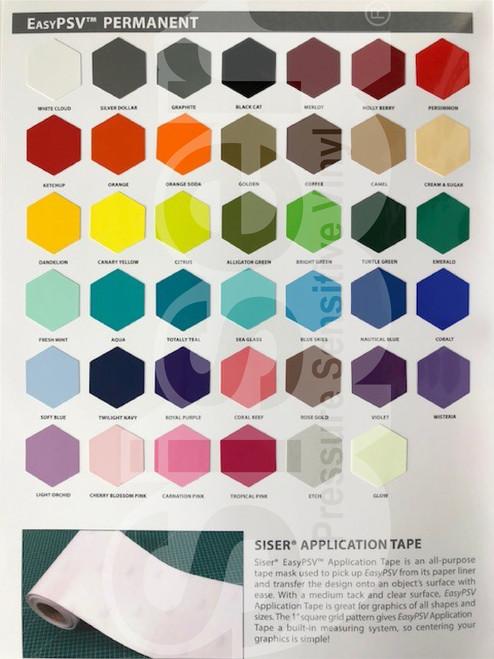 Siser EasyPSV Color Guide - Individual