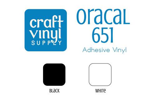 "651 Black/White Permanent Vinyl 12""x5FT. Rolls"