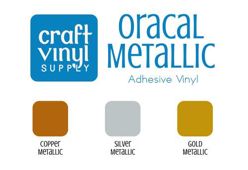 """651 Metallic Permanent Vinyl 12""""x5FT. Rolls"""