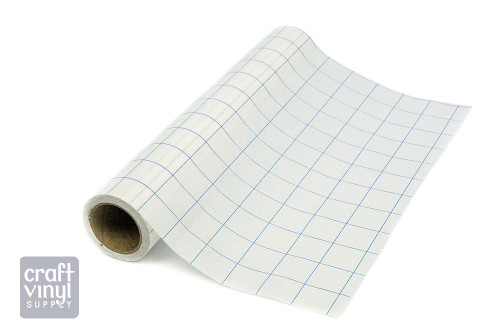"""Grid-Lined Paper Transfer Tape 12""""x30' Roll (Blue Lines)"""