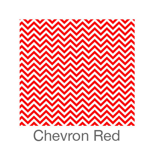 """12""""x12"""" Patterned HTV - Chevron Red"""