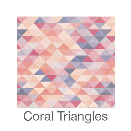 """12""""x12"""" Patterned HTV - Coral Triangles"""