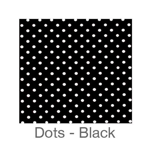 """12""""x12"""" Patterned HTV - Dots Black"""