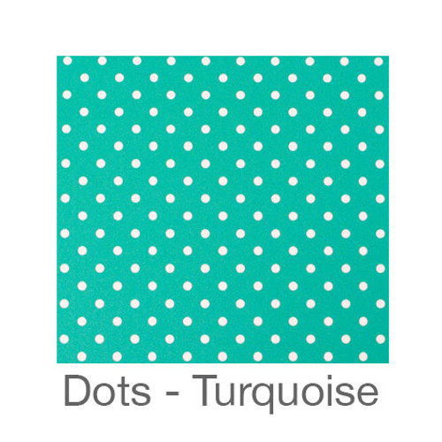 """12""""x12"""" Patterned HTV - Dots Turquoise"""