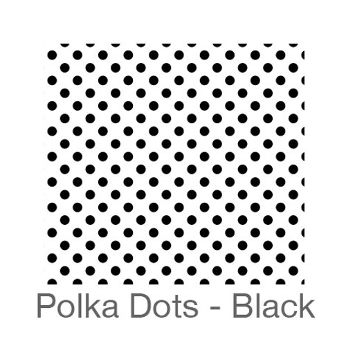 "12""x12"" Patterned HTV - Polka Dots - Black"