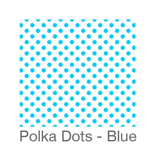 "12""x12"" Patterned HTV - Polka Dots - Blue"
