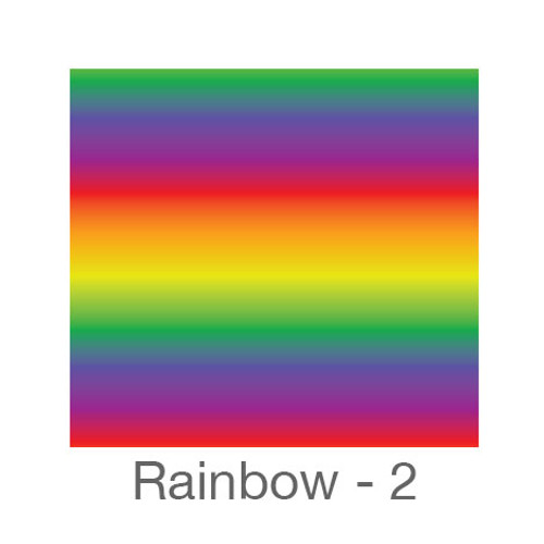 "12""x12"" Patterned HTV - Rainbow 2"