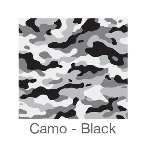 """12""""x12"""" Patterned HTV - Camo Black"""