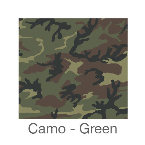 """12""""x12"""" Patterned HTV - Camo Green"""