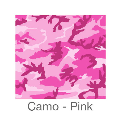 """12""""x12"""" Patterned HTV - Camo Pink"""