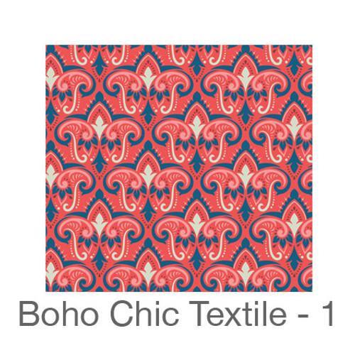 "12""x12"" Patterned HTV - Boho Chic Textile - 1"
