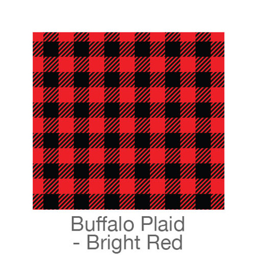 """12""""x12"""" Patterned HTV - Buffalo Plaid - Bright Red"""