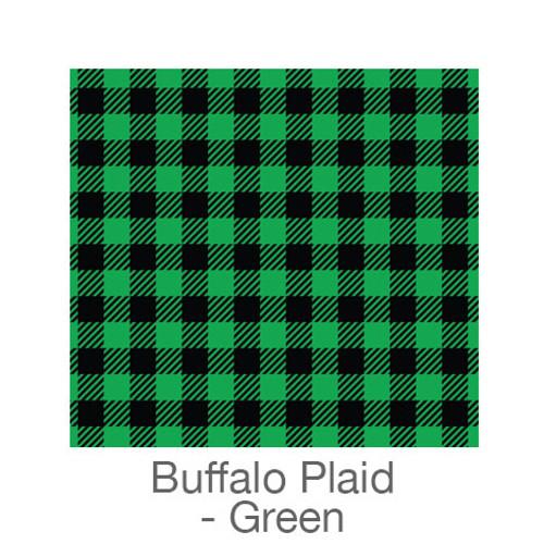 """12""""x12"""" Patterned HTV - Buffalo Plaid - Green"""