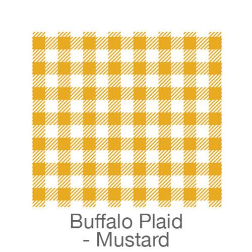 """12""""x12"""" Patterned HTV - Buffalo Plaid - Mustard/White"""