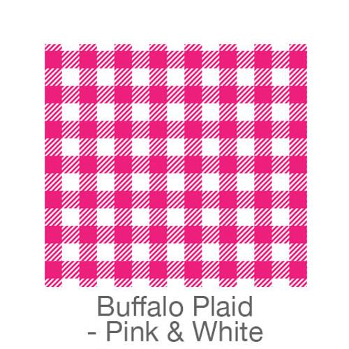 """12""""x12"""" Patterned HTV - Buffalo Plaid - Pink/White"""