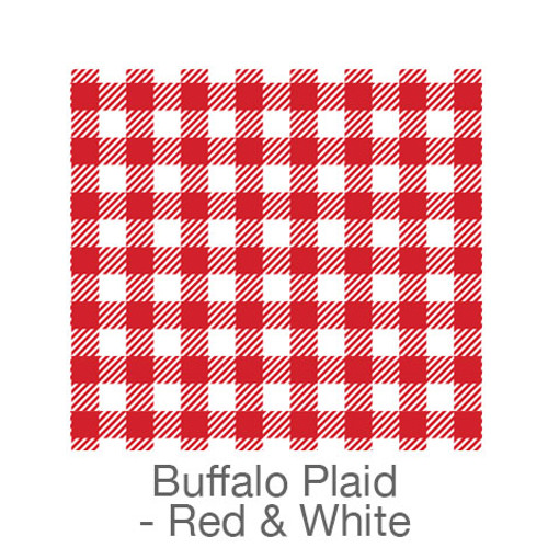 """12""""x12"""" Patterned HTV - Buffalo Plaid - Red/White"""