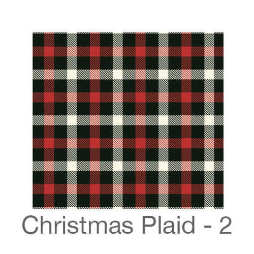 "12""x12"" Patterned HTV - Christmas Plaid 2"