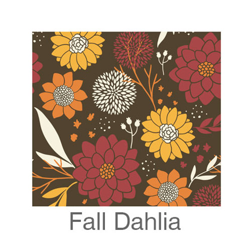 "12""x12"" Patterned HTV - Fall Dahlia"