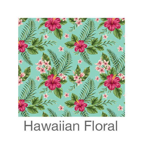 """12""""x12"""" Patterned HTV - Hawaiian Floral"""