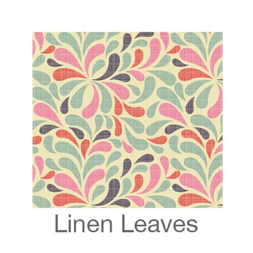"""12""""x12"""" Patterned HTV - Linen Leaves"""